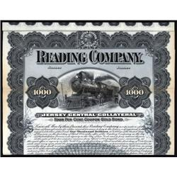 Pennsylvania - Reading Company - Jersey Central Collateral Specimen Bond.
