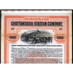 Tennessee - Chattanooga Station Company Specimen Bond.