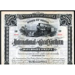 Texas - International-Great Northern Railroad Co. Bond.