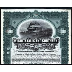 Texas - Wichita Falls and Southern Railway Co. $1000 Bond.