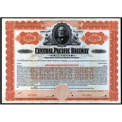 Utah, California - Central Pacific Railway Co. Bond.