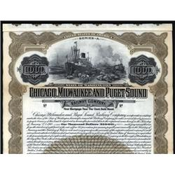 Washington - Chicago, Milwaukee and Puget Sound Railway Co. Bond.