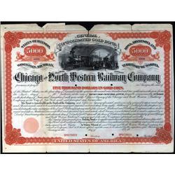 Wisconsin - Chicago and North Western Railway Co., 1872 Issue Specimen Bond.