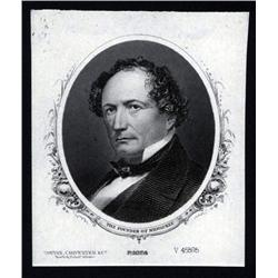 Wisconsin - Proof Portrait of the Founder of Milwaukee, Wisconsin.
