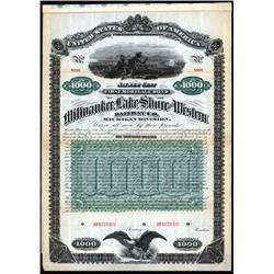 Wisconsin, Michigan - Milwaukee, Lake Shore and Western Railway Co.- Michigan Division Specimen Bond