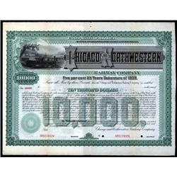 Wisconsin, Michigan - Chicago and Northwestern Railway Co. Specimen Bond.