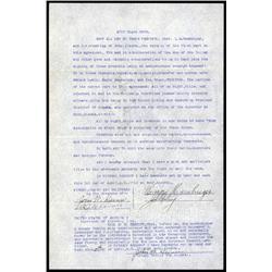 Alaska - Territory of Alaska, Yukon River Area Quit Claim Deed, Ruby Alaska, 1012..