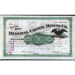 Arizona - Mineral Creek Mining Co. Stock Certificate.