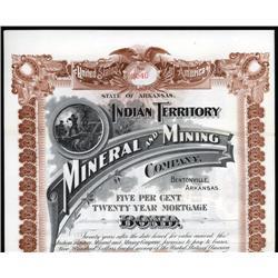 Arkansas - Indian Territory Mineral and Mining Company.