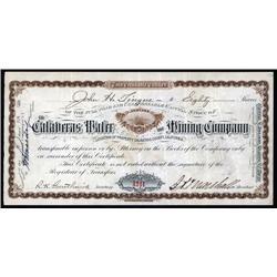 California - Calaveras Water and Mining Co.