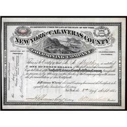 California - New York and Calaveras County Gold Mining Co.