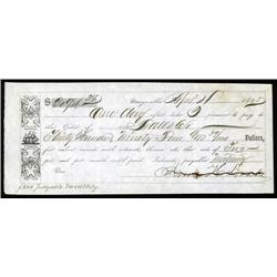 California - Gold Rush Note, Marysville, California, 1855.