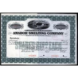 Montana - Amador Smelting Co., Montana Mining Certificate.