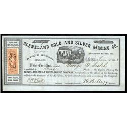 Nevada Territory - Cleveland Gold and Silver Mining Co., Nevada Territory.