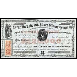 Nevada Territory - Lury Ella Gold and Silver Mining Co., Nevada Territory.