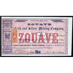Nevada Territory - Zouave Gold & Silver Mining Co., Nevada Territory.