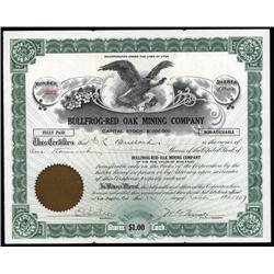 Nevada - Bullfrog-Red Oak Mining Co. Stock Cert.