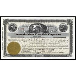 Nevada - Homestake Monte Cristo Gold Corporation