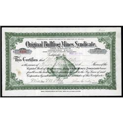 Nevada - Original Bullfrog Mines Syndicate With Bullfrog Vignette.