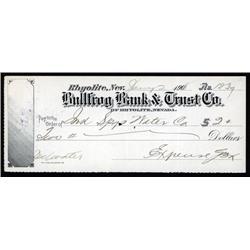 Nevada - Bullfrog Bank & Trust Company, Check.