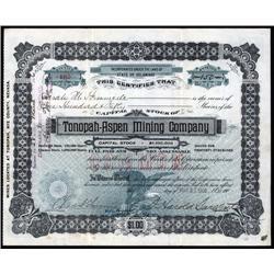Nevada - Tonopah-Aspen Mining Co. Stock.