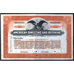New Jersey - American Smelting and Refining Co. Stock Cert