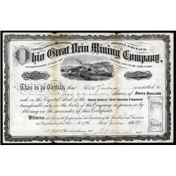 Ohio - Ohio Great Vein Mining Co. Stock Certificate.
