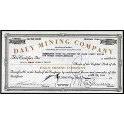 Utah - Daly Mining Company