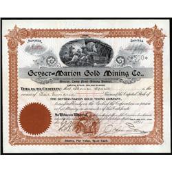 Utah - Geyser-Marion Gold Mining Co.
