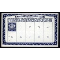 - Postal Savings Stamp Imprinted on Deposit Card, Scott # PS5.