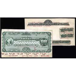 - Wells Fargo & Company Proof Traveler's Checks with Additional Partial Proofs.