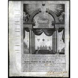 Indiana - Masonic Membership Certificate From Indiana.