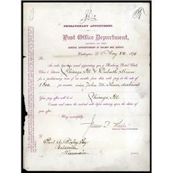 Washington, D.C. - U.S. Post Office Department, Appointment by Superintendent of Railway Mail Servic