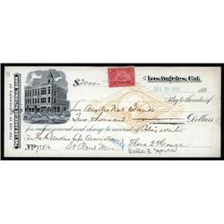 California - Los Angeles, National Bank Draft with Facsimile RN.