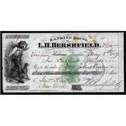 Montana - Banking House of L.H.Hershfield With Green RN-B6 IR and Rare Location.