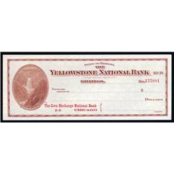 Montana - Yellowstone National Bank, Montana Draft.
