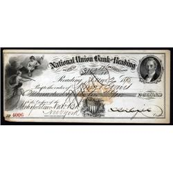 Pennsylvania - National Union Bank of Reading, I.R. RN-F1, Check or Draft.