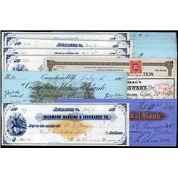 Various States - Check Assortment Including Imprinted Revenues.