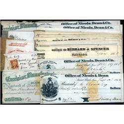 Various States - Lot of 18 Revenue imprinted Checks.