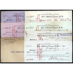 Washington, D.C. - Treasury Dept. Receipts for Request for Silver Dollars and Fractional Silver Coin