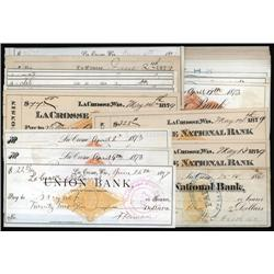Wisconsin - Wisconsin Imprinted Revenue Check Assortment.