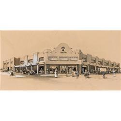 Berninghaus, Oscar E.  - General Store, Taos (1874-1952)