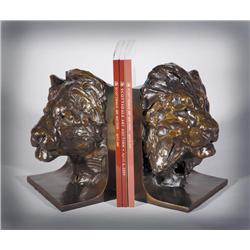 Bunn, Kenneth - Lion & Lioness (bookends) (b. 1935)