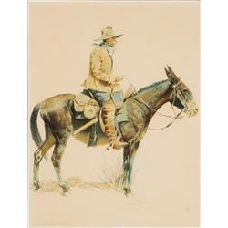 Remington, Frederic - An Army Packer (1861-1909)
