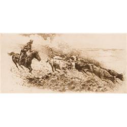 Borein, Edward - Wild Cattle #2 (1872-1945)