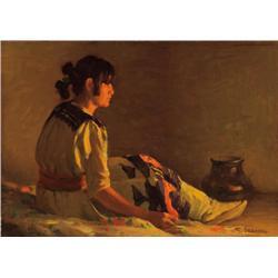 Sharp, Joseph H. - Crucita by Firelight (1859-1953)