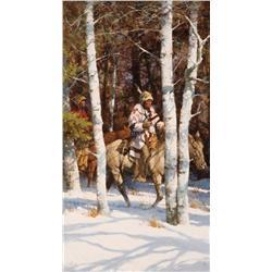 Terpning, Howard - Blackfeet Among the Aspens (b. 1927)