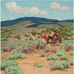 Hennings, E. Martin - Homeward Through the Sage (1886-1956)