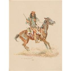 Wieghorst, Olaf - Apache Horseman, 1968-69 (1899-1988)