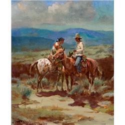 Wieghorst, Olaf - Navajo Sparking (1899-1988)